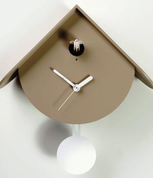 TITTI 2077 tortora Moderno orologio con cucu e pendolo