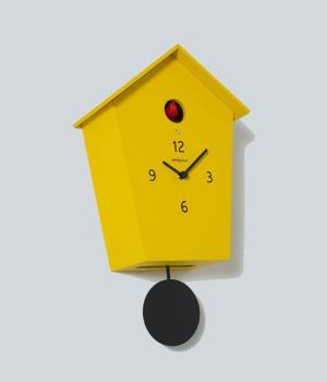 MERIDIANA 233 giallo Nuovo orologio a cucu con pendolo nero