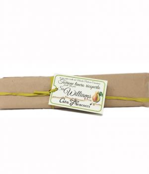 TORRONE with pear Francucci  soft almond covered with pear filling