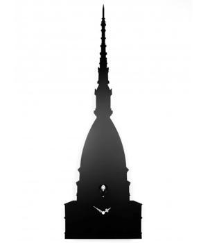 Una MOLE di CUCU nero Orologio a cucu omaggio alla Mole Antonelliana