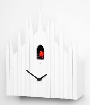 DUOMO white Cuckoo Clock Diamantini and Domeniconi