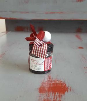 Favor for baptism with typical products: VISCIOLE jam