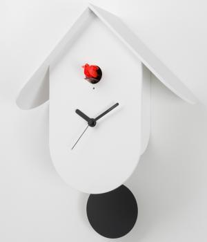 TITTI 2078 bianco Orologio cucu a parete design moderno