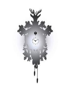 CUCU 373 acciaio specchiato Diamantini Domeniconi orologio da parete icona