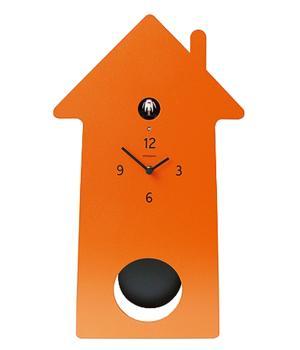 MERIDIANA 219 orange Cuckoo Clock with Pendulum