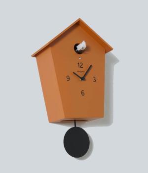 MERIDIANA 233 ocra orologio a cucu in betulla laccata