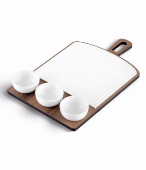 Tagliere base legno e lastra in Krion K-Life VES Ideale per degustazioni