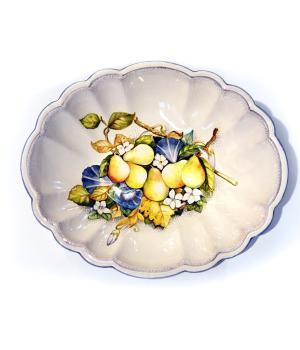 Ciotola Ovale maiolica dipinta a mano Paolo Lazzarotti – ceramica artistica