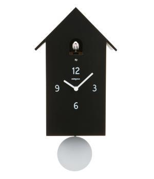 ZUBA nero Moderno orologio a parete con cucu e pendolo