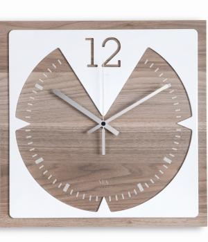 VITESSE wood & Krion K-Life - VES - Square wall clock for kitchen or living room