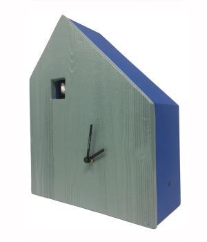 CEMENTO blau mit grau zement-fassade Kuckucksuhr