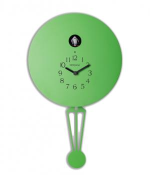 Meridiana 911 saure grüne Wanduhr in Form eines Heißluftballons