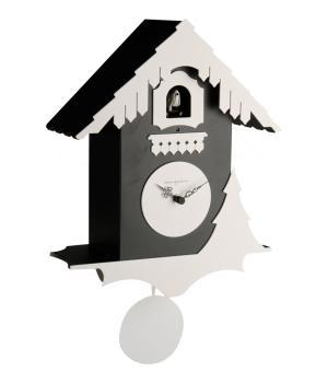 CHALET nero e bianco Orologio con cucu' e pendolo Diamantini Domeniconi
