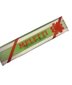 Torrone cioccolato latte Meletti nocciole gianduja tostate al gusto anice