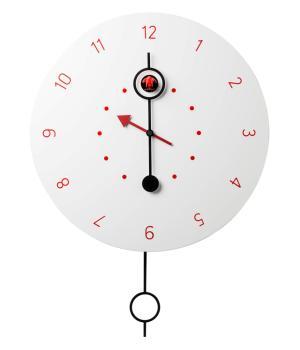 CI PASSO Weiß mit Rot arabische Zahlen Kuckucksuhr mit pendel