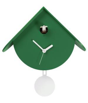TITTI 2077 verde pino Orologio da parete in stile contemporaneo