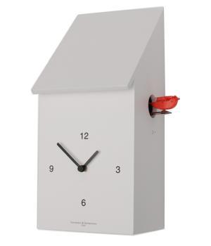 HALF TIME bianco Sorprendente orologio dove il cucu esce lateralmente