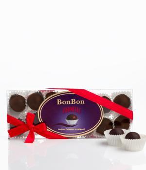 BON BON raffinate praline di cioccolato fondente ripiene di Varnelli
