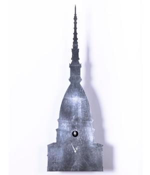 Una MOLE di CUCU foglia argento Orologio a cucu da parete