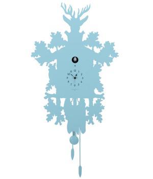 CUCU 373 azzurro Moderno orologio a muro con movimento cucu e pendolo F.lli Domeniconi