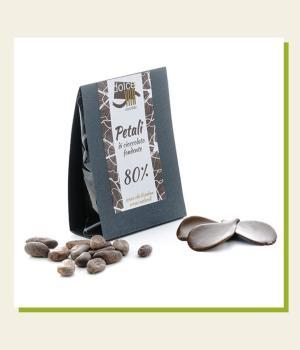 Petali di Cioccolato Fondente 80% Dolce Vita cioccolato artigianale di qualità