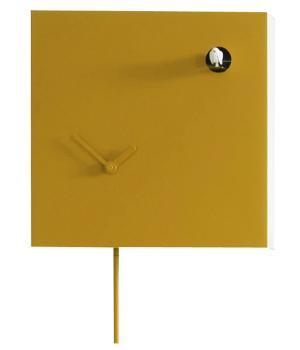 ICONA 225L giallo Orologio quadrato con cucu in moderno stile Italiano