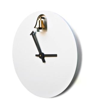DINN bianco Orologio musicale con campanella dorata