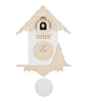 CHALET bianco e betulla Diamantini Domeniconi Orologio cucu a parete