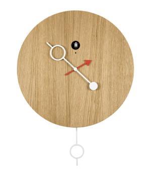 CI PASSO rovere naturale Innovativo orologio con cucu e pendolo