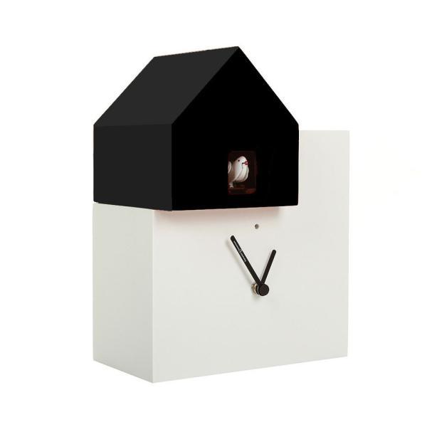 ETTORE 2057 bianco/nero Orologio cucu da parete e tavolo