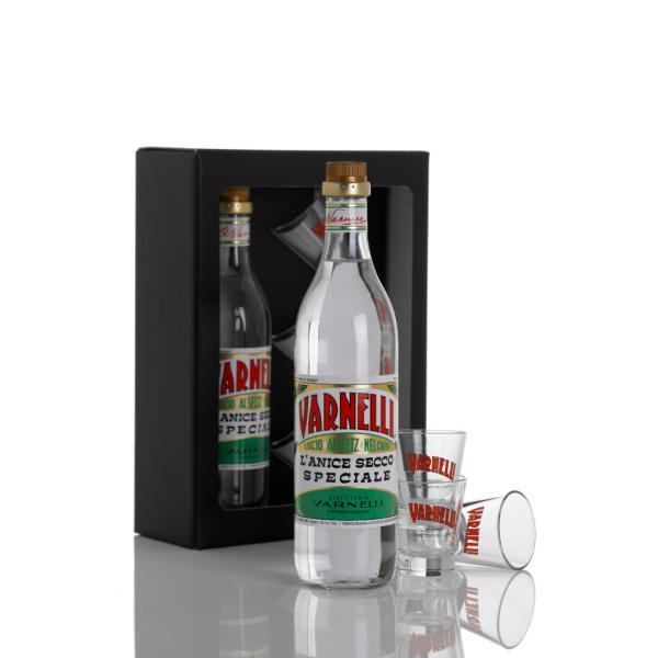 OPEN GLASS liquore Varnelli + 3 bicchierini Idea regalo