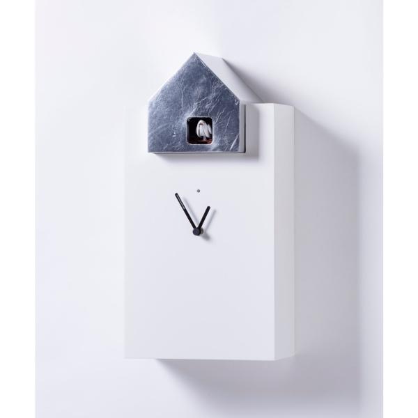 ETTORE 2058/F bianco/foglia argento Orologio cucu Diamantini e Domeniconi