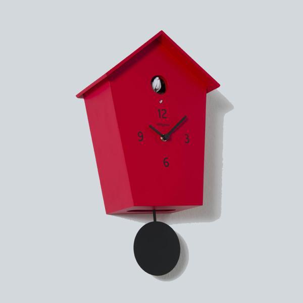 MERIDIANA 233 rosso orologio a cucu con pendolo nero