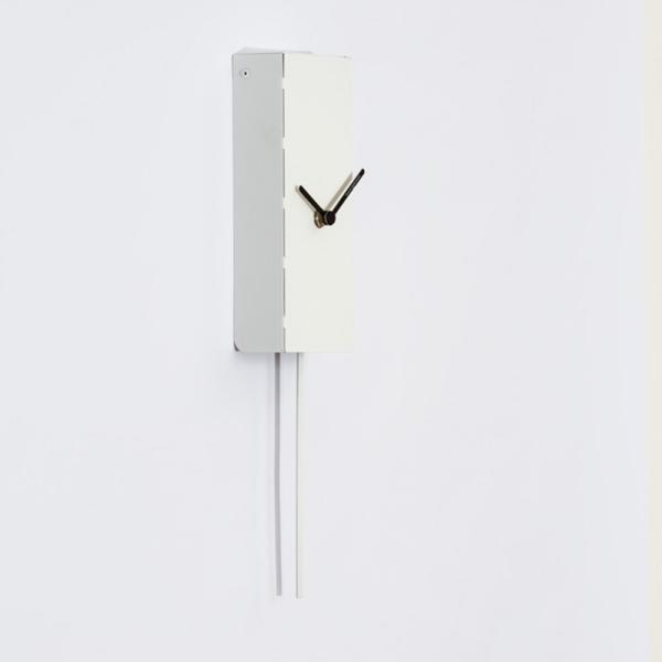 MINUTO bianco Orologio da parete adatto a spazi minuti