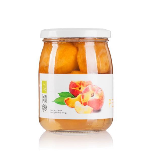 PESCHE sciroppate BIO San Michele Arcangelo frutta selezionata raccolta a mano