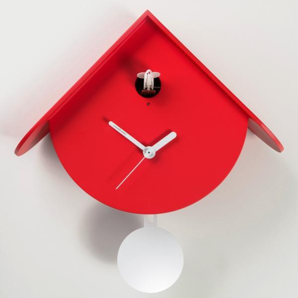 TITTI 2077 rosso Orologio cucu' e pendolo stile contemporaneo