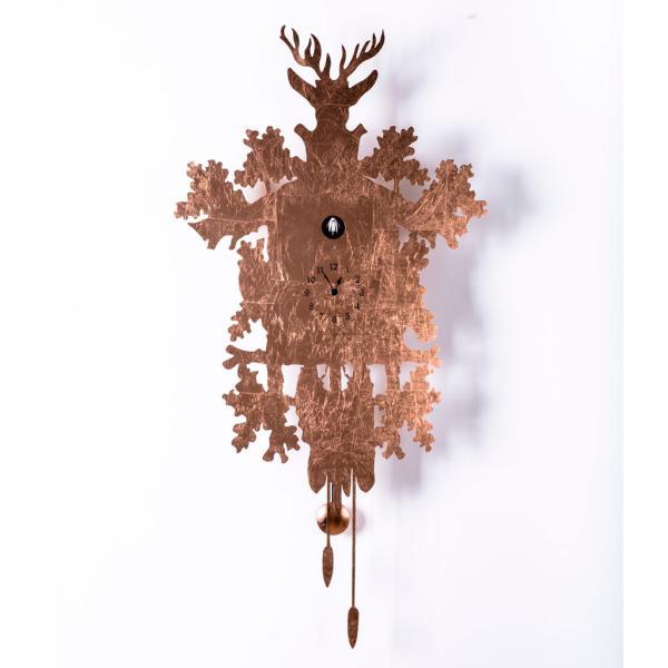 CUCU 373 LEAF foglia rame Orologio da parete di classe Diamantini Domeniconi