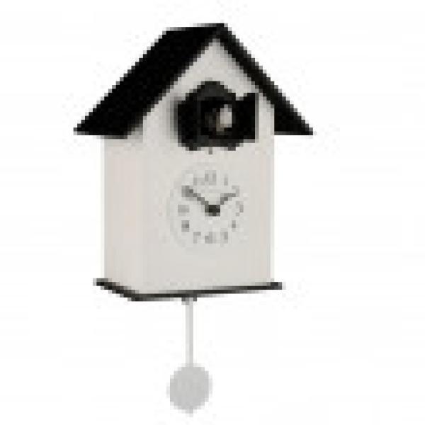 216 bianco e nero Orologio con pendolo e cucu F.lli Domeniconi