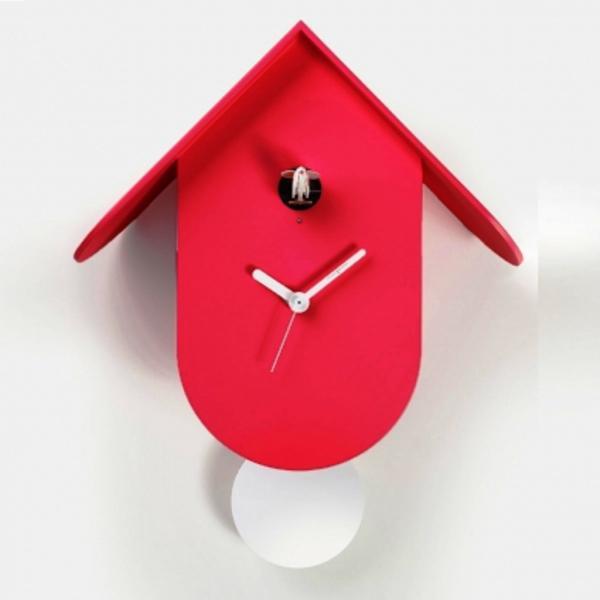 TITTI 2078 rosso Orologio cucu design moderno x cameretta bambini