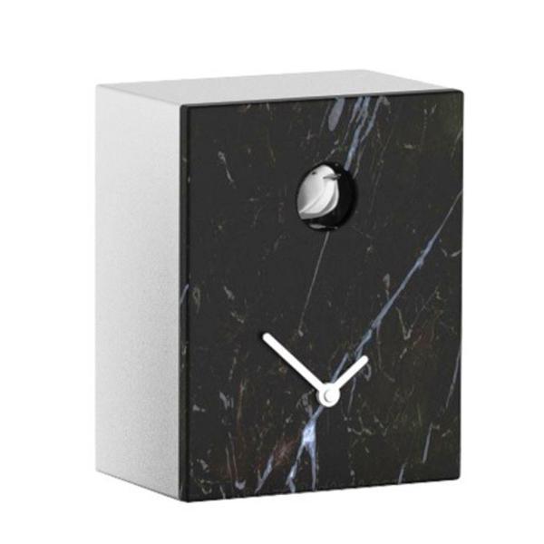 PORTOBELLO marmo nero Marquinia Orologio cucu a parete e appoggio