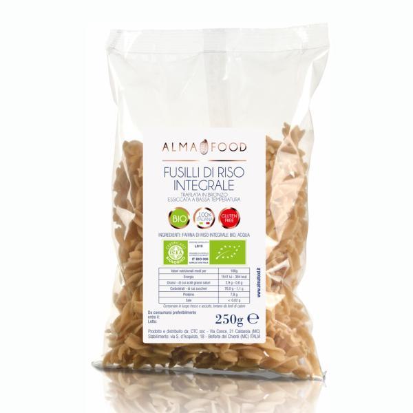 FUSILLI di riso Bio Alma Food pasta integrale senza glutine