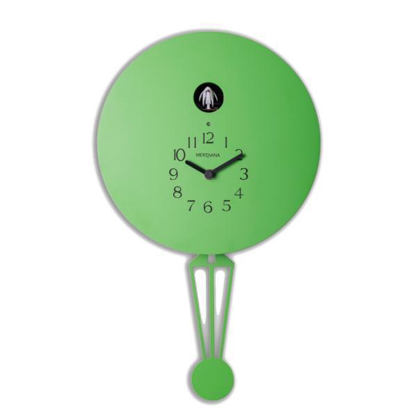 Meridiana 911 verde acido Orologio cucu a parete a forma di mongolfiera