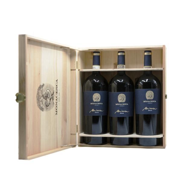 MIRUM 3 bottiglie box legno La Monacesca Verdicchio di Matelica DOCG