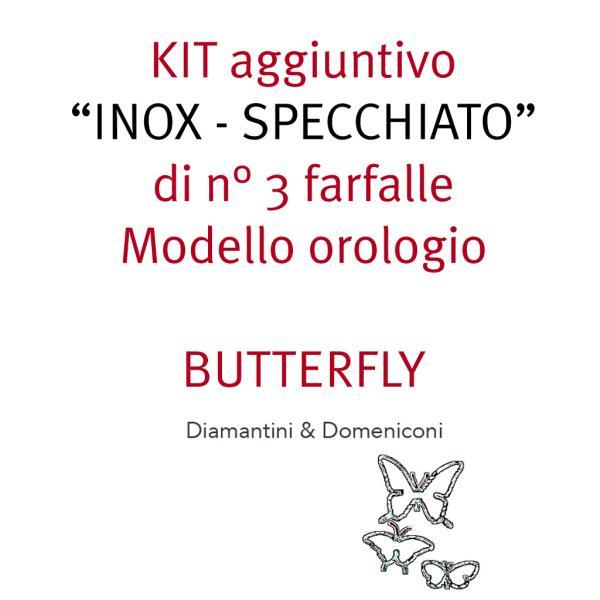 KIT di 3 farfalle acciaio inox per orologio BUTTERFLY