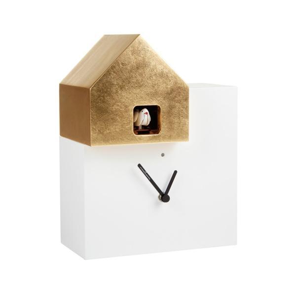 ETTORE 2057/F bianco foglia oro Orologio cucu Diamantini Domeniconi