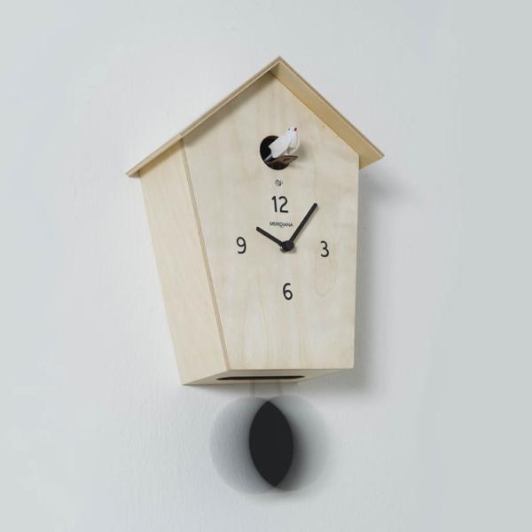MERIDIANA 233 betulla naturale orologio a cucu MADE IN iTALY