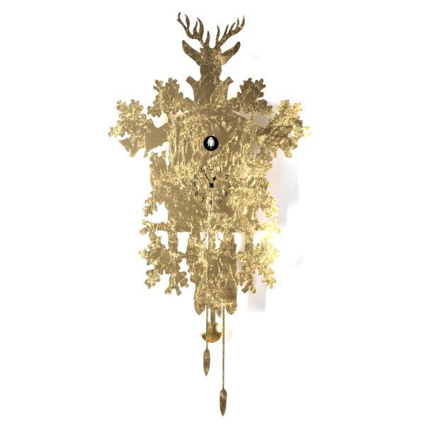 CUCU 373 LEAF foglia oro prestigioso orologio a cucu Diamantini Domeniconi