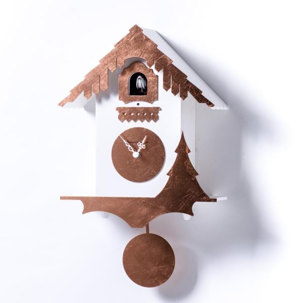 CHALET foglia rame Esclusivo orologio a cucu Fratelli domeniconi